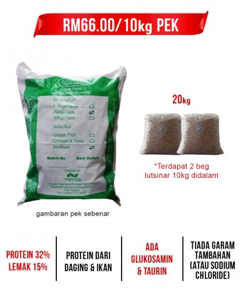 Feeder Rohani Anie : MISHA Dry Cat Food Seafood 20KG