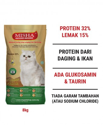 AMANAH : MISHA Dry Cat Food Chicken & Tuna 8KG