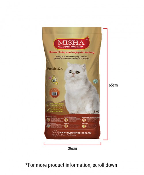 MISHA Dry Cat Food Ocean Fish 8KG