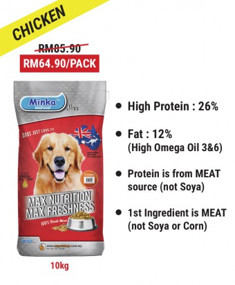 Diana Pak Din : Minka Dry Dog Food Chicken 10KG
