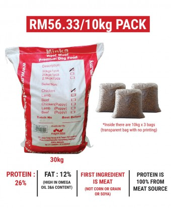MDDB : Minka Dry Dog Food Chicken 30KG