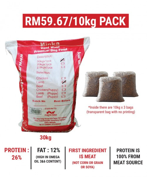 Minka Dry Dog Food Lamb 30KG