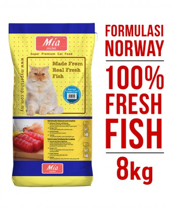 Mia Michel Super Premium Dry Cat Food Ocean Fish 8KG