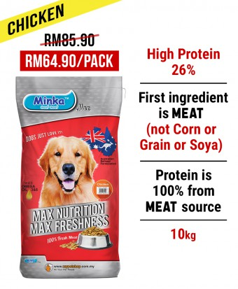 MDDB : Minka Dry Dog Food Chicken 10KG