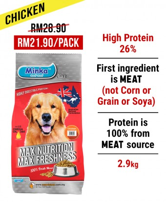 SM Kwang Hua : Minka Dry Dog Food Chicken 2.9KG