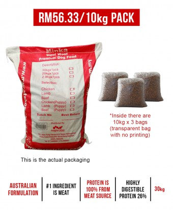 Minka Dry Dog Food Chicken 30KG