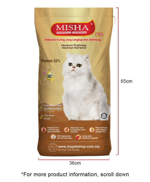 Cats Fun Home : MISHA Dry Cat Food Seafood 8KG